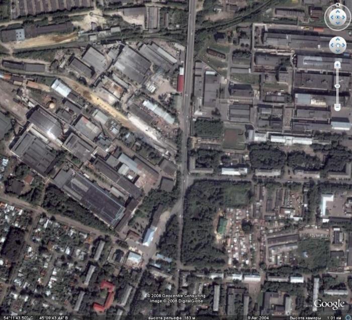 карта саранска со спутника